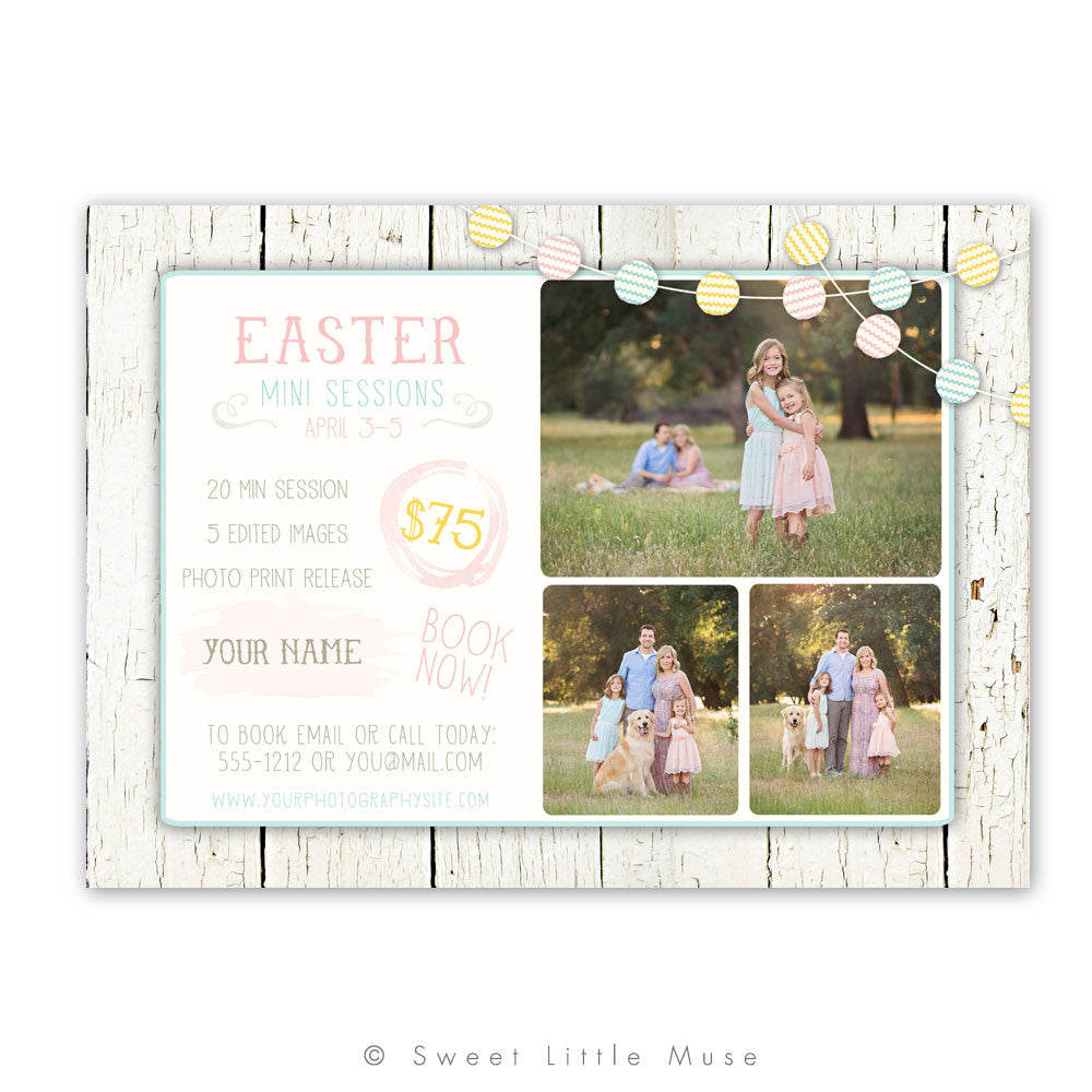 Rustic Easter Mini Session Template