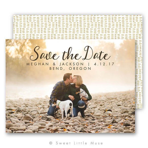 Watercolor Dashes Save the Date