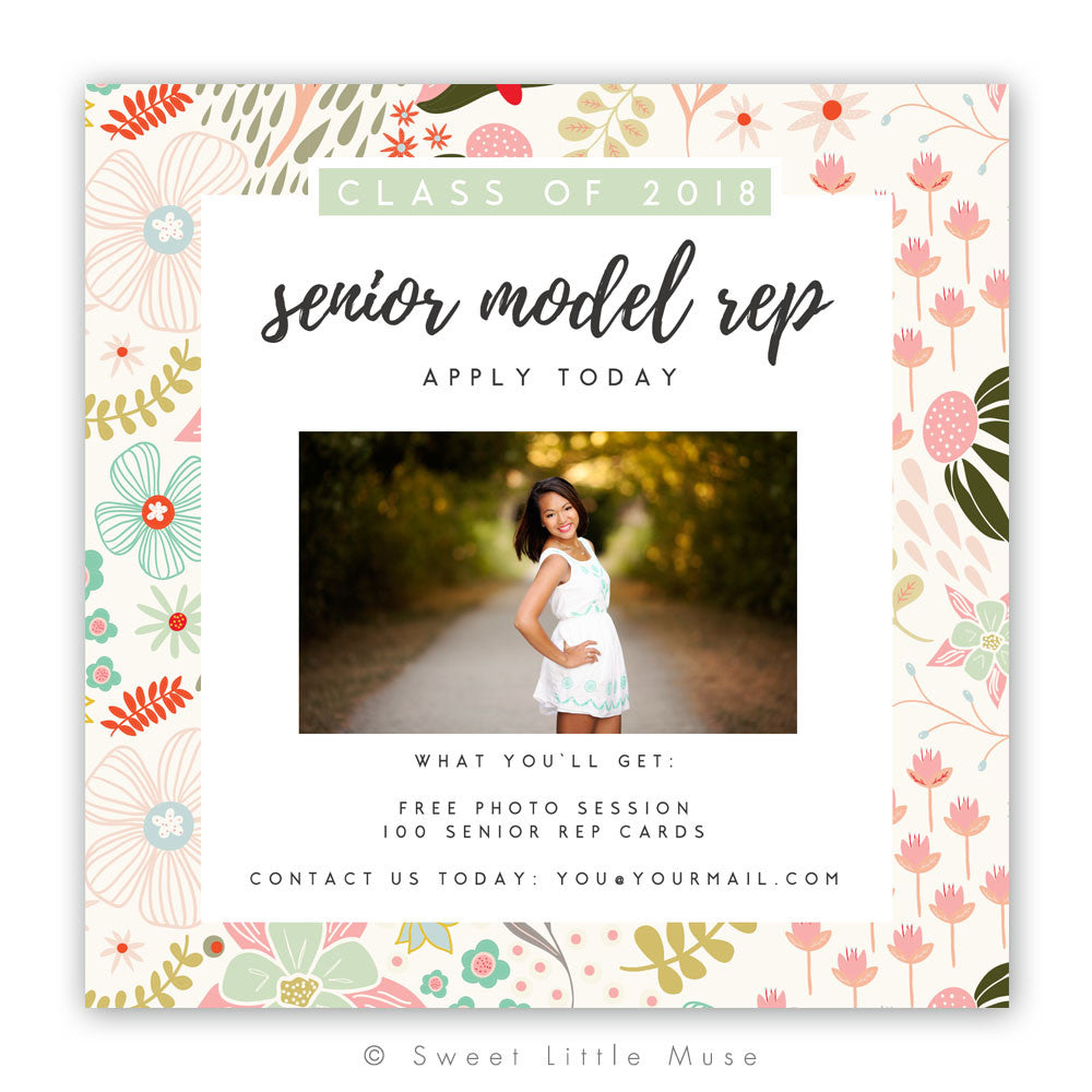 Floral Senior Rep Template