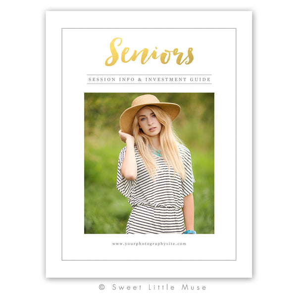 Gold Senior Magazine Template