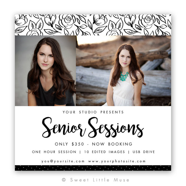 Senior Marketing Mini Session Template