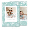 Snowflake Watercolor Christmas Card Template