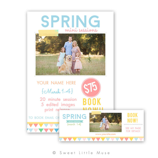 Spring Mini Session Template with Bonus Free Timeline