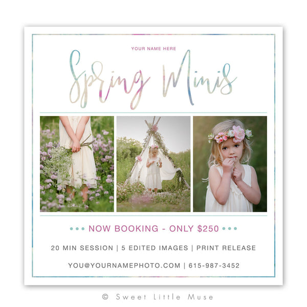 Spring Mini Session Template 5x5