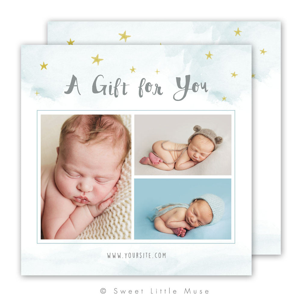 Whimsical Stars Gift Card Template