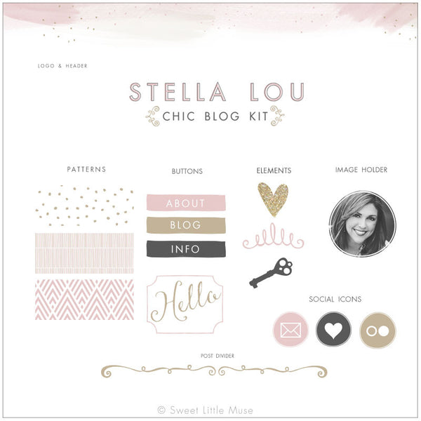 Chic Watercolor Blog Kit & Logo