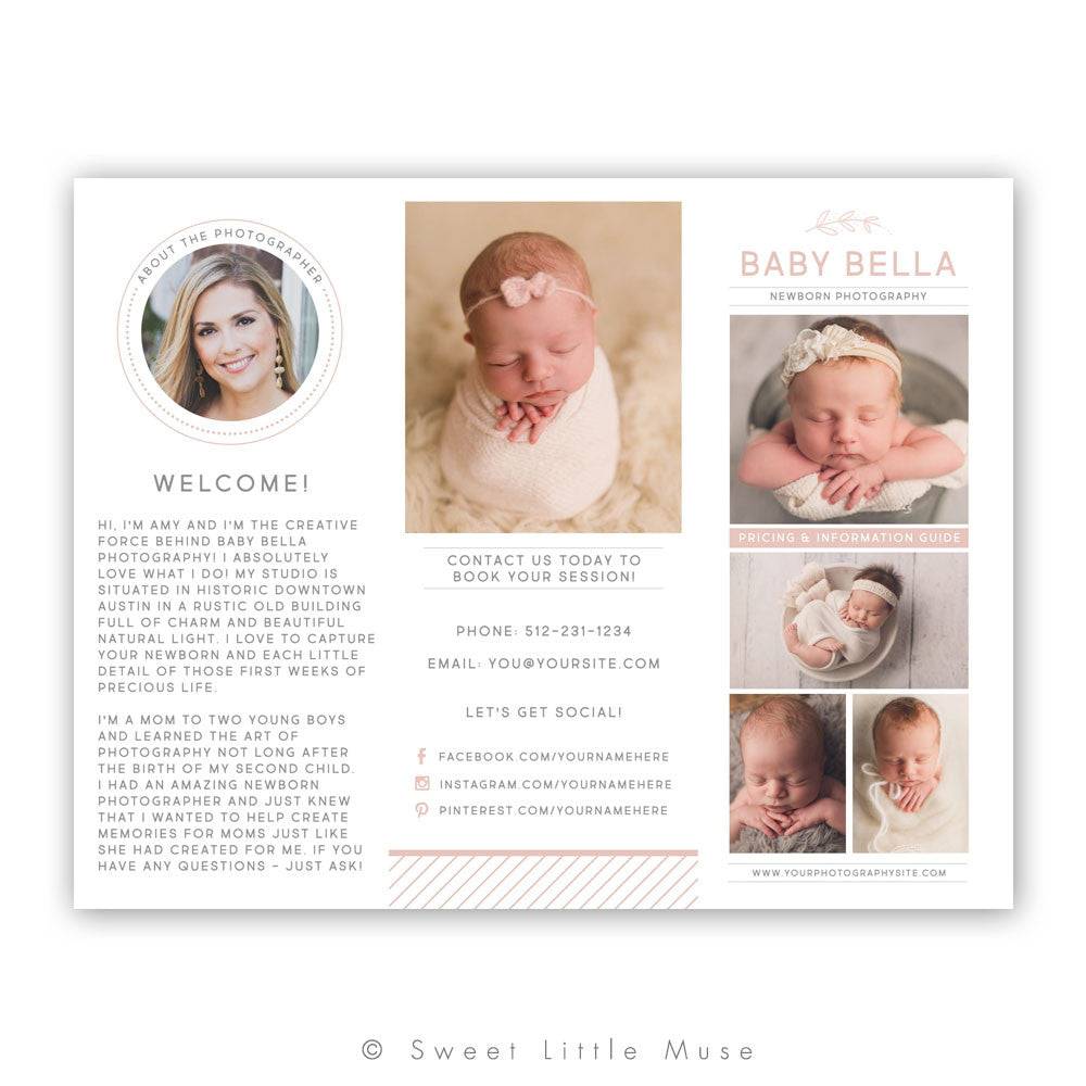 Photography Trifold Accordian Template
