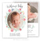 Hand Painted Watercolorl Birth Announcement Template