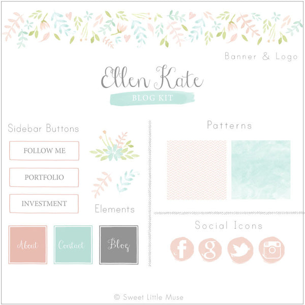 Floral Blog Kit & Logo