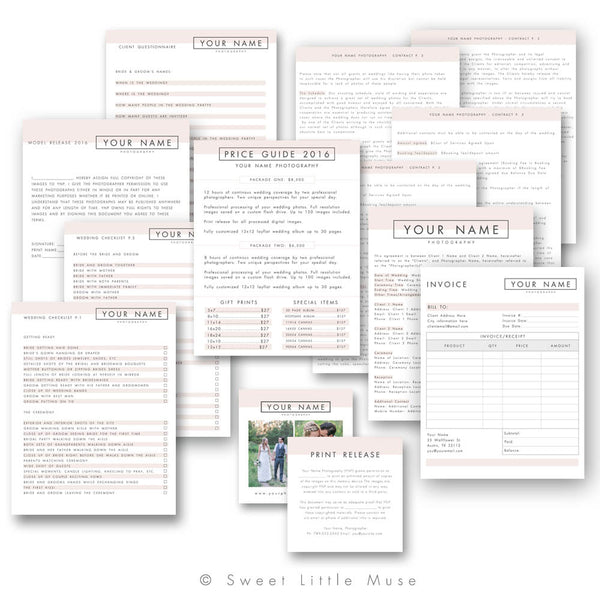 Wedding Photography Business Forms