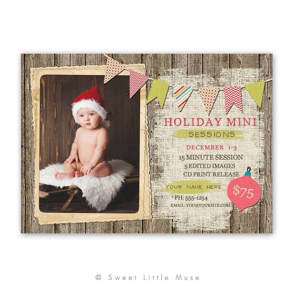 Rustic Holiday Mini Session Template