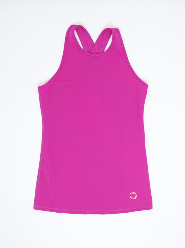 Joules Athletics Carolyn Tank is a vibrant, comfortable athletic top for women.