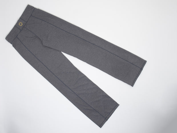 These women's grey running pants are comfortable and popular.