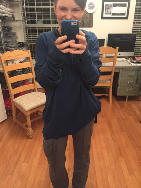Blue Un-sweatshirt
