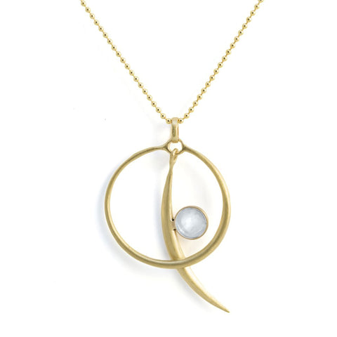 Sun/Moon Necklace with Moonstone