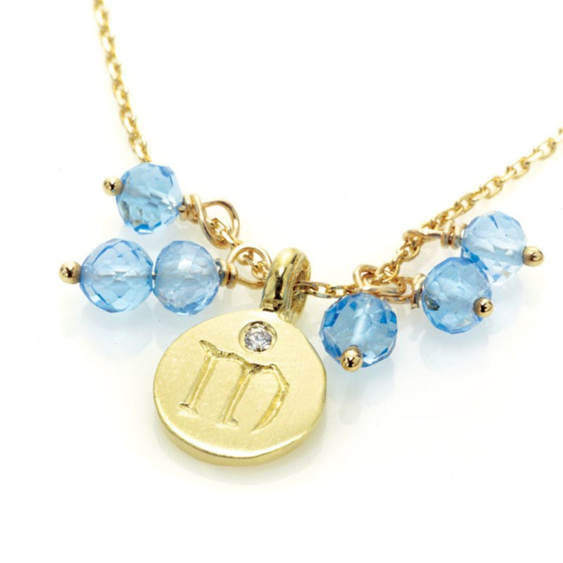 November Blue Topaz Love Letter