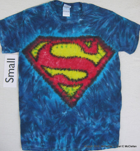 Adult Small Tie-Dye Superman Tee