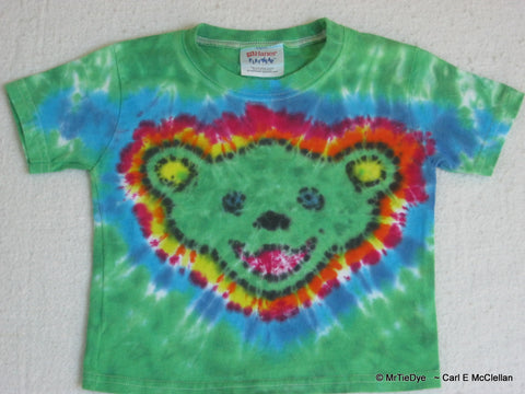 24 Month Tie-Dye Jerry Bear Baby Tee - Grateful Dead