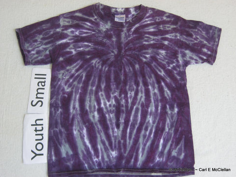 Youth Small Tie-Dye Spider Tee