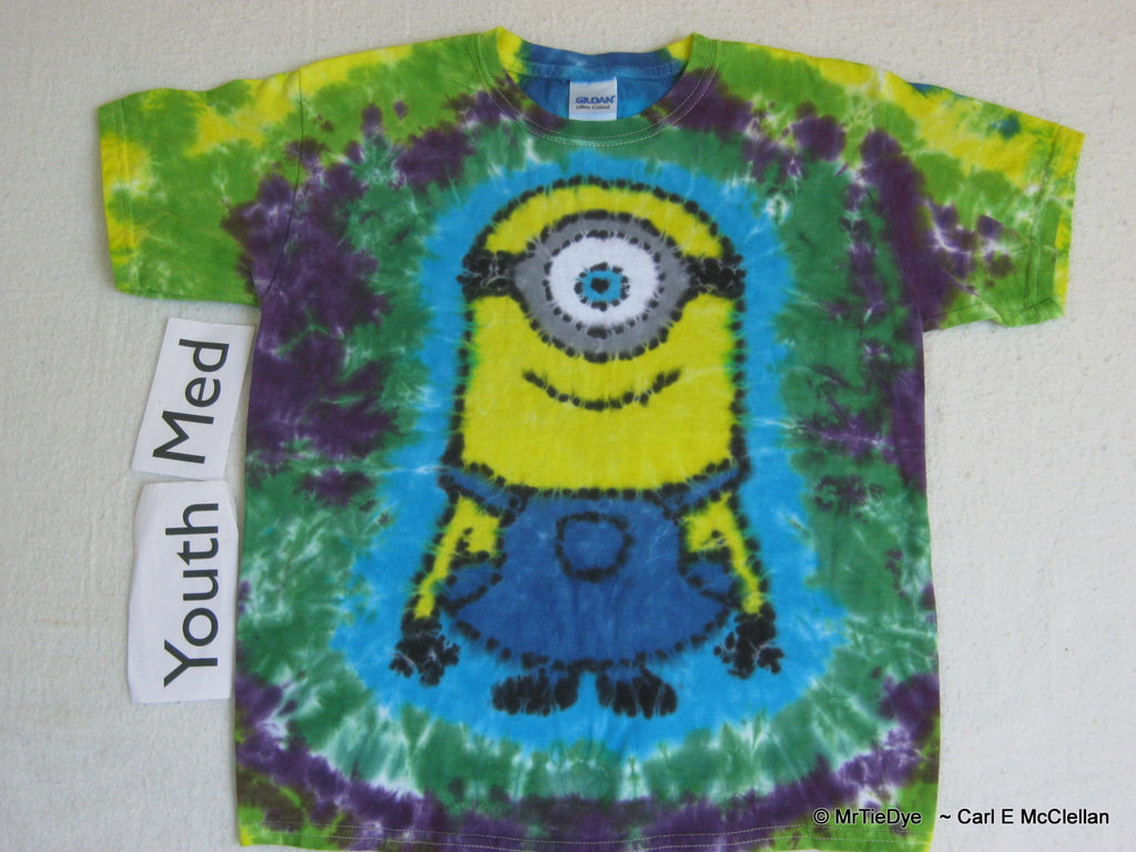 Youth Medium Tie-Dye Minion Tee