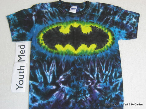Youth Medium Tie-Dye Batman Tee