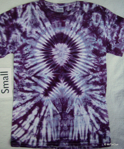 Adult Small Tie-Dye Ribbon tee