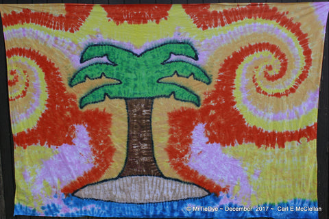 Tie-Dye Tropical Island Tapestry