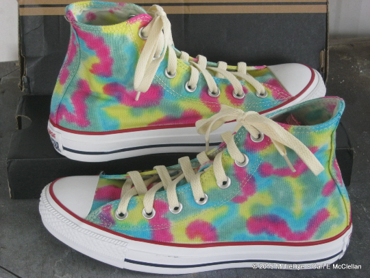 Men sz 5.5 Rainbow Pastel Hand Dyed Converse Sneakers Hi Top Women sz 7.5