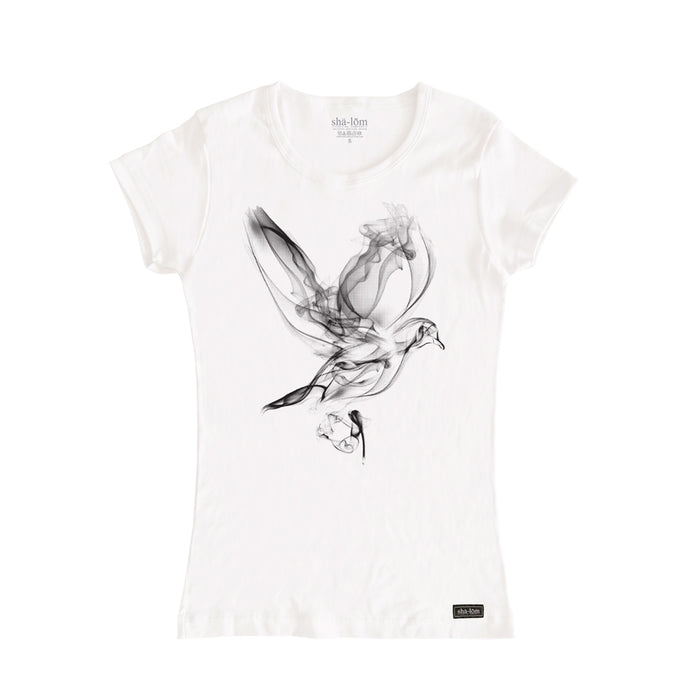 Smoke Dove Womens Tee White