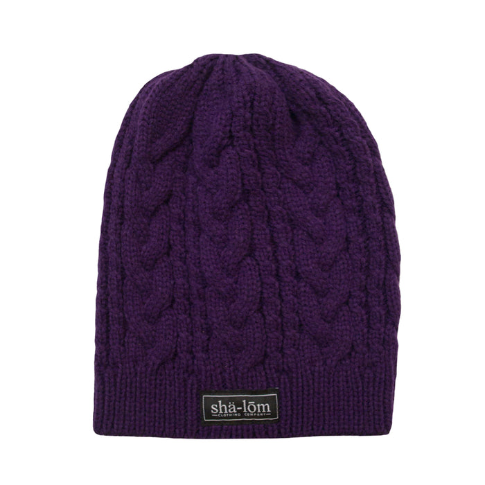 Womens Definition Beanie Purple