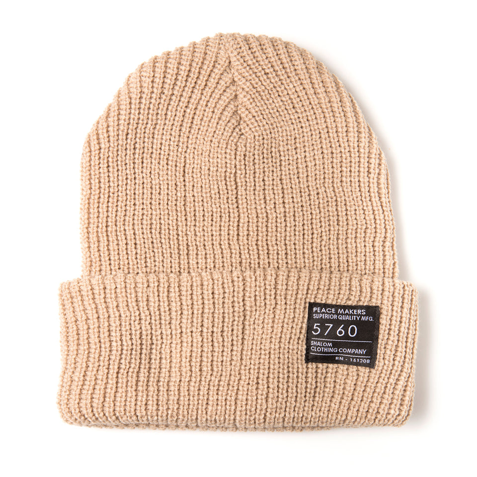 Peace Makers Beanie Beige
