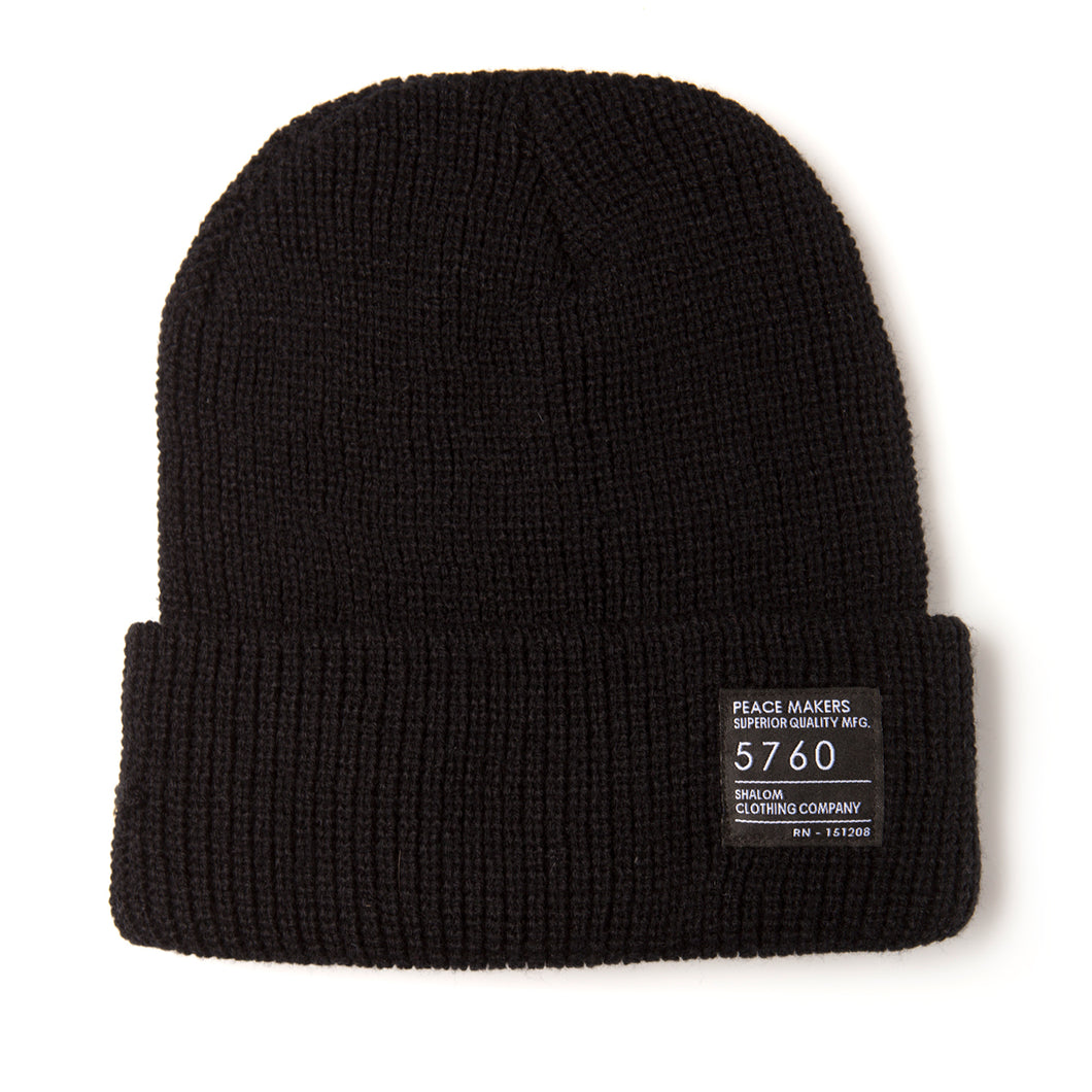 Peace Makers Beanie Black
