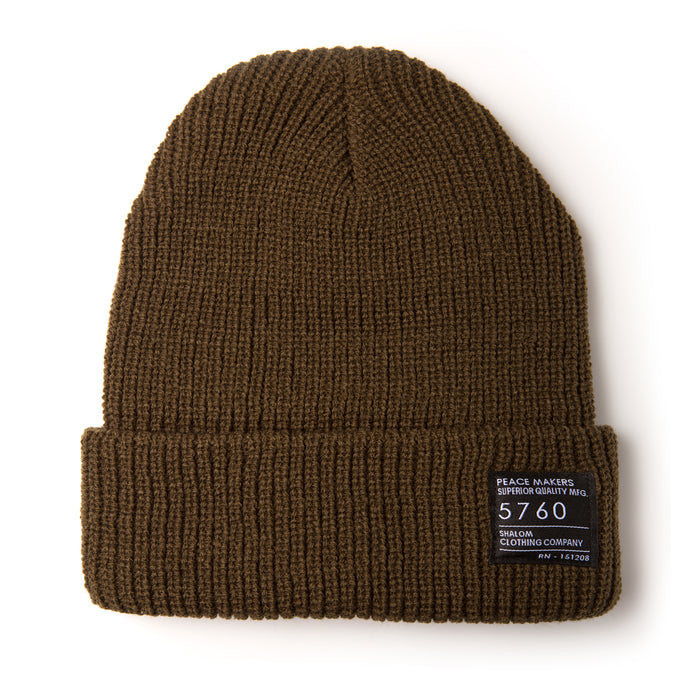 Peace Makers Beanie Brown