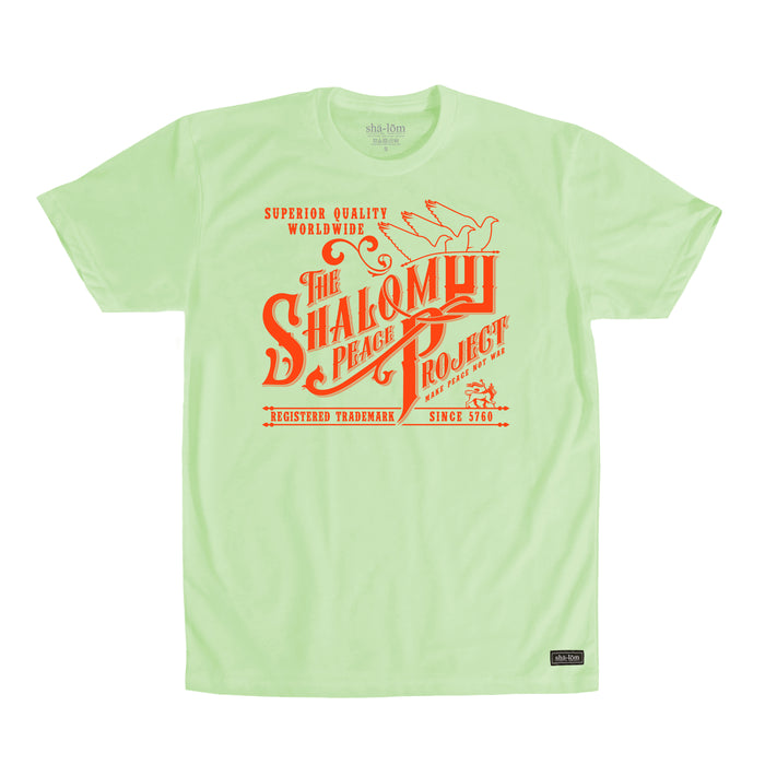 Shalom Peace Project Tee Lime