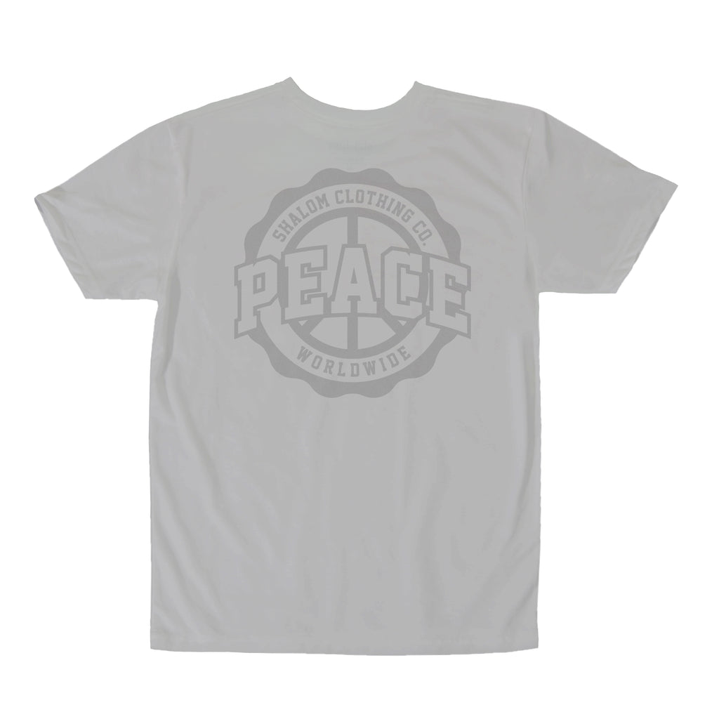 Shalom Crest tee 3M Silver