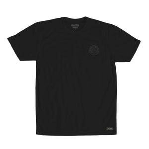 Shalom Embroidered Crest tee Black