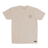 Shalom Embroidered Crest tee Sand
