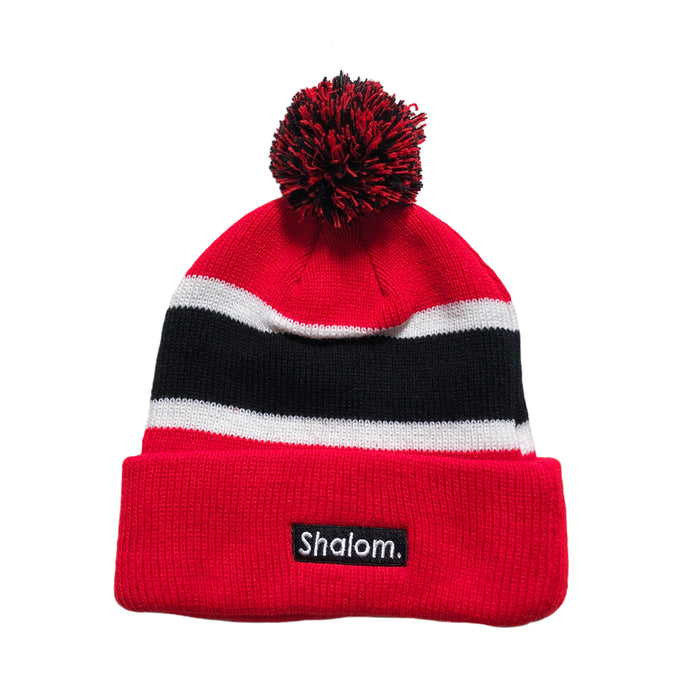 Shalom Bar Beanie Red