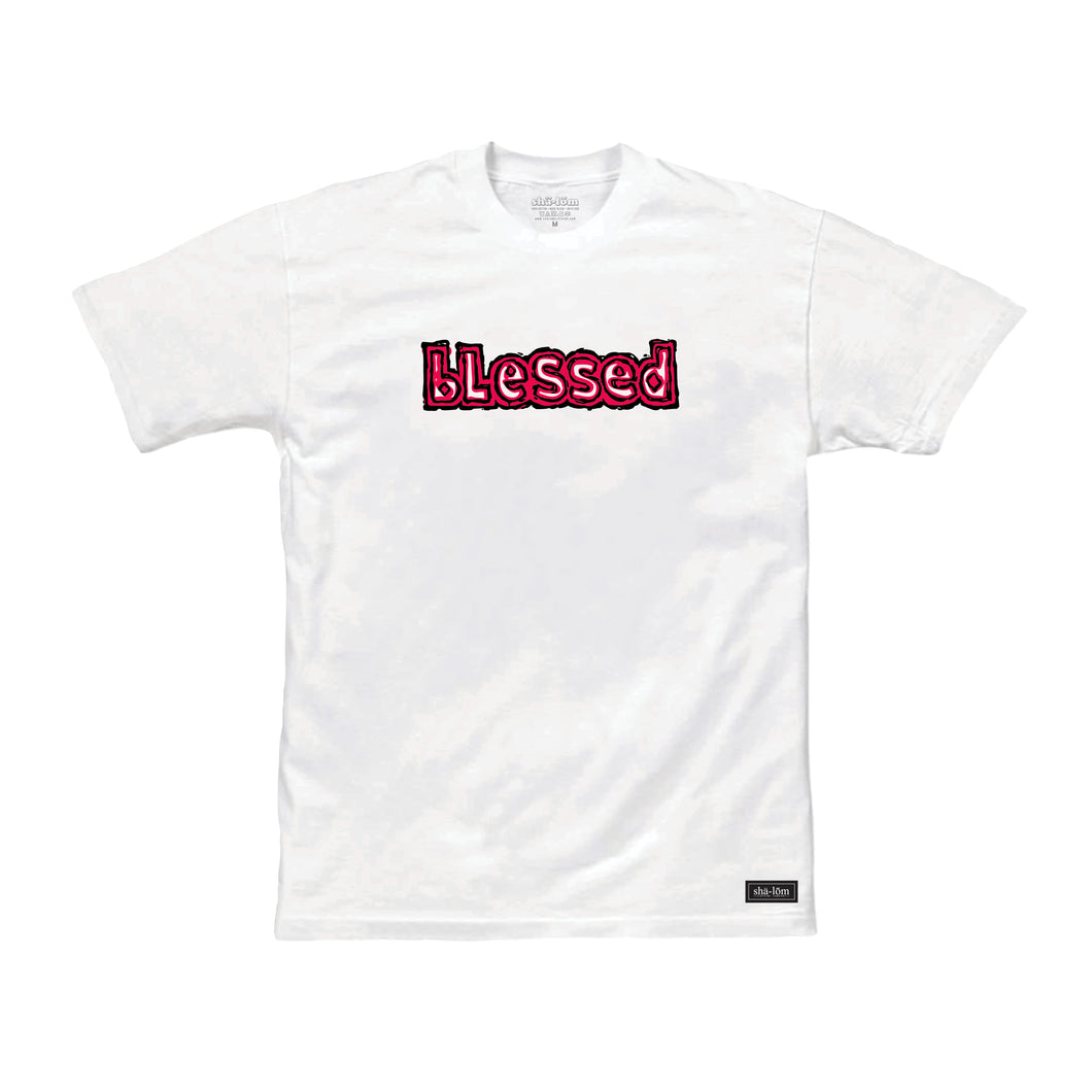Blessed tee White by Shalom Clothing