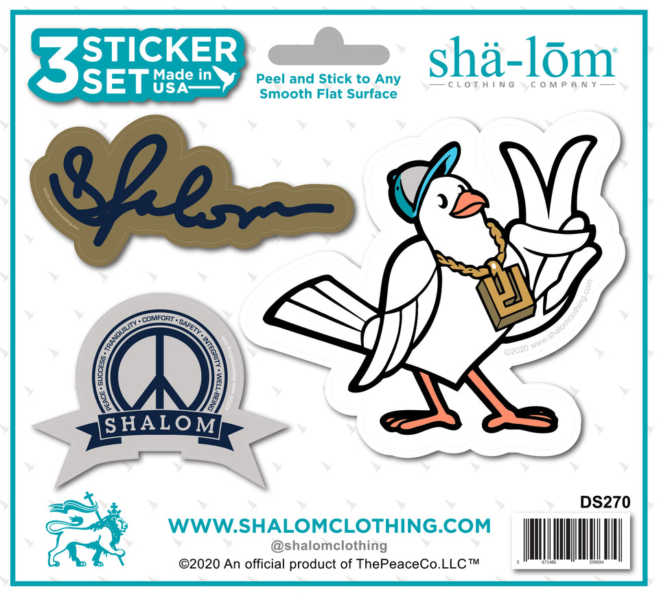 SHALOM STICKER SET
