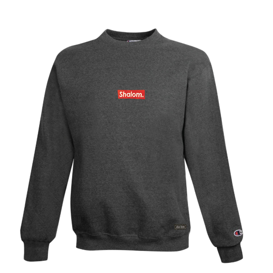 Champion Shalom Bar Crew Charcoal Heather