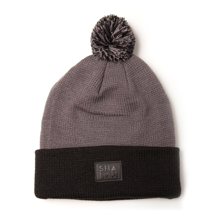 Shapes Beanie Grey Black