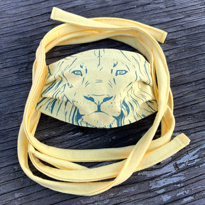 Shalom Clothing x liljax Lion of Judah kids Face Covering lemon fits Ages 0-7