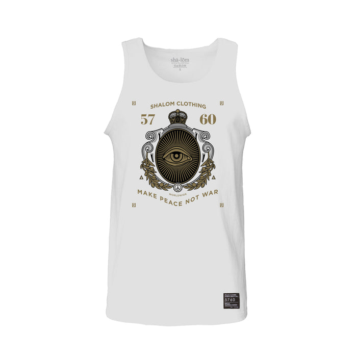Crest-Eye Tank Top White