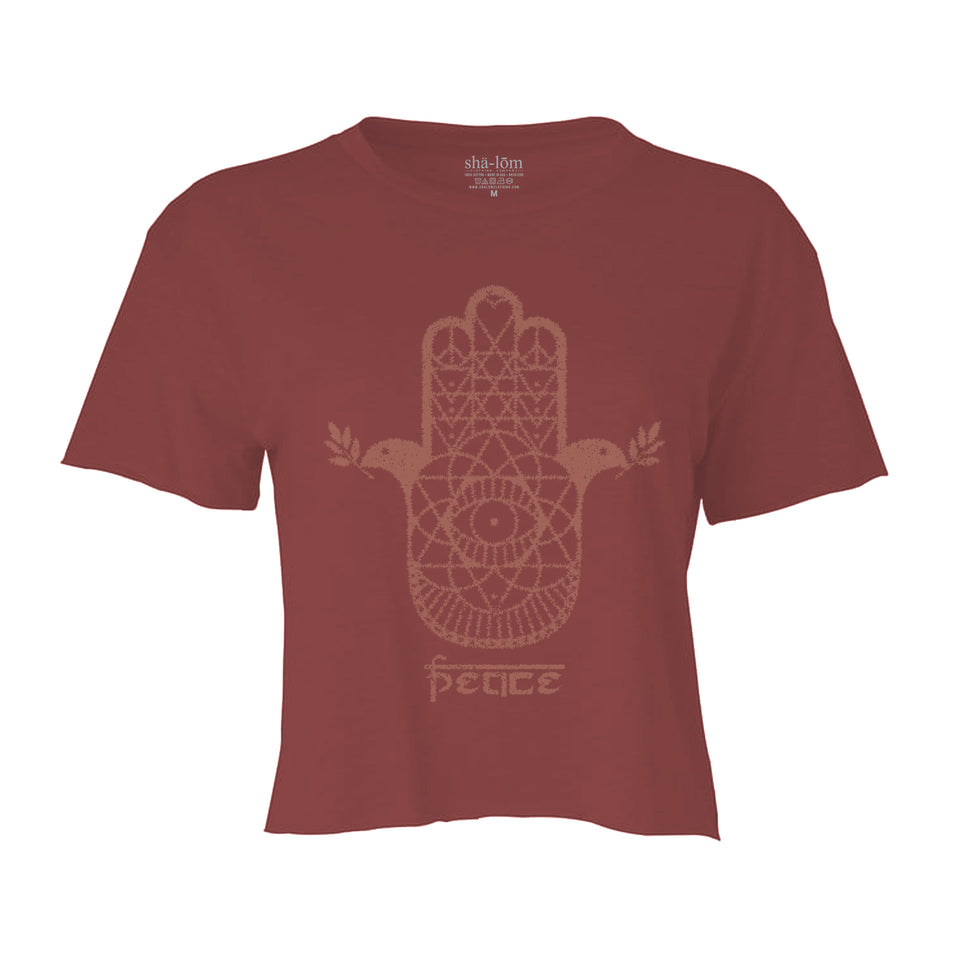 HAMSA CROP TOP TEE PEPPER WOMENS