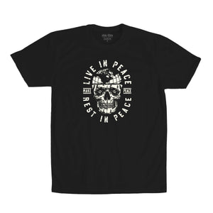 Live in Peace Tee Black