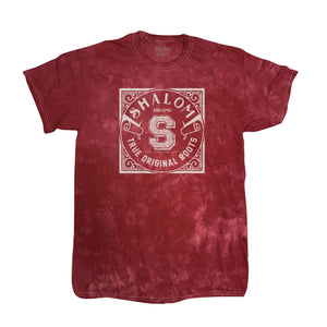 Shalom Brand Tee Acid Wash Red