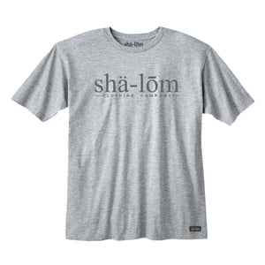 This is our main TRADEMARKED type face logo for the Shalom Clothing brand.100% Ringspun Cotton Tee with the Phonetic spelling of Shalom on the front. Hand screen printed in Santa Cruz CA with eco friendly water base inks. Custom shalom definition neck tag and shalom definition woven label sewn on the bottom left corner. Wear this garment in peace. Shalom Peace Every-Wear.