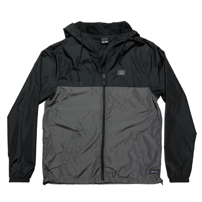 Lightweight Windbreaker Shapes Men's Black / Gray Jacket