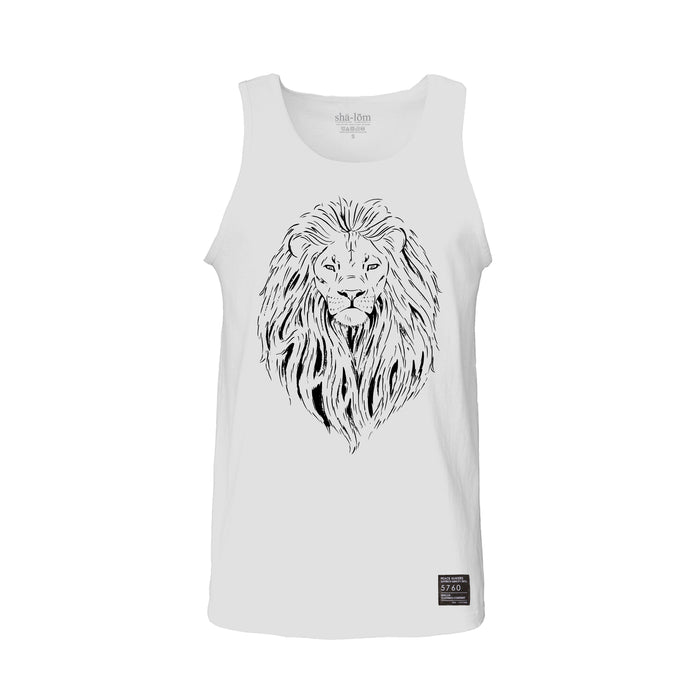 Lion of Judah Tank Top White